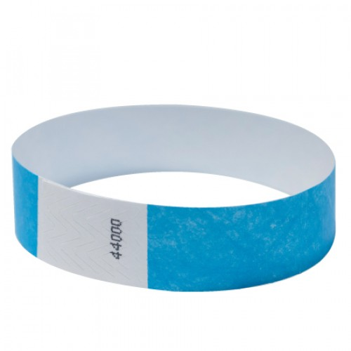 "Tyvek 3/4"" paper wristbands 100 pcs."