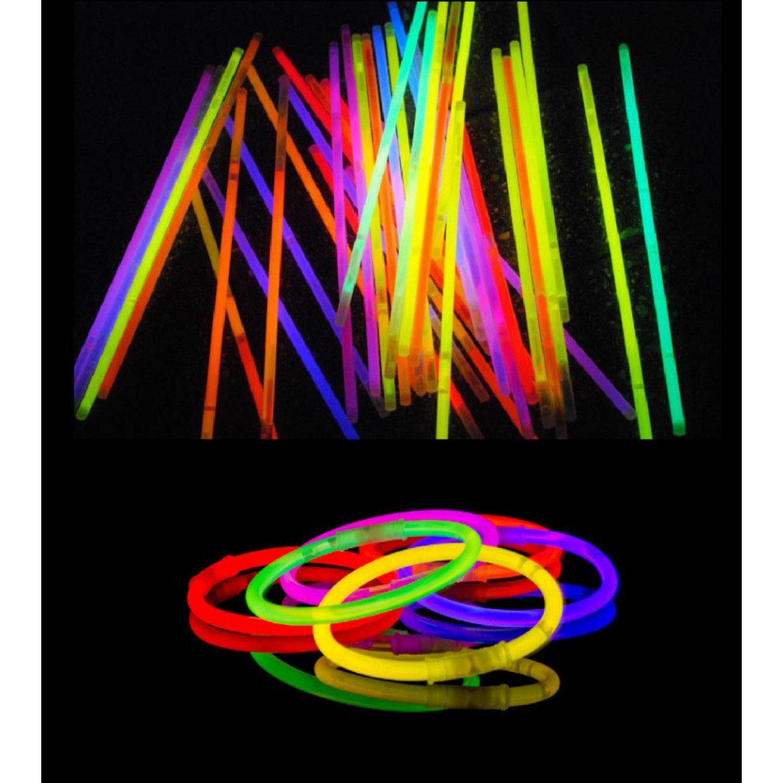 Glow sticks - gaismas kociņi (100 gab.)